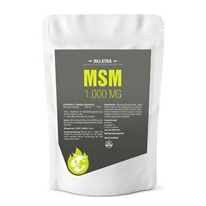 MSM TABLETTEN 1000mg - HOCHDOSIERT & VEGAN - Methylsulfonylmethan Gelenke