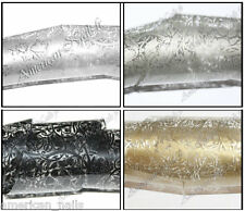 4 x Rouleau Foils Nail Art Foil decor ongle Dentelle Noir Argent Or Etain 150 cm