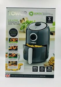 Tower Air Fryer  1.6L 1000W VORTX Frying Technology Oil Free Low Fat Fryer