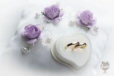 ANELLO Nuziale cuscino, di fidanzamento CUSTODIA,violetto,p30,Cuscino Annea