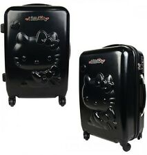Hello Kitty in Black Suitcase Rolling Travel Bag Sanrio Luggage