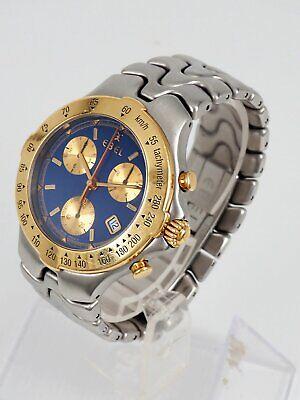 EBEL SPORTWAVE Chronograph Stahl Datum Quarz E6251641 Herren 40mm