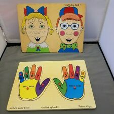 Hands & Faces Wood Puzzles Melissa & Doug Pre-School Counting
