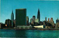 Vintage Postcard - Mid-Manhattan Skyline From East River New York NY #1697