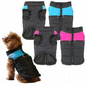 Winter Waterproof Pet Dog Clothes Warm Padded Coat Pet Vest Jacket Jumpsuit Vest