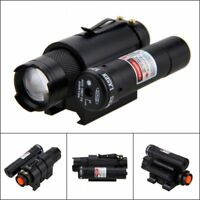 1200lm SK68 XPE LED Hunting Flashlight Tactical Red Dot Laser 20mm Rail for Hunt