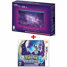 Nintendo 3DS XL Galaxy Style Console & Pokemon Moon Game - New & Bubble Wrapped