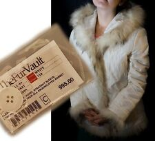 NEW JACKET-Rabbit RACOON Fur $995-USA MACY's XL Fourrure de lapin Kaninchenfell