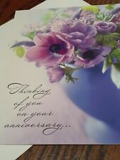 Hallmark Anniversary Card For A Couple Flowers Purple Nice Thinking Of You