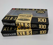 2 Maxell  XL II S 100  Cassette Tapes New Rare 1992 Made in Japan Factory Sealed