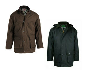MENS COUNTRY CLASSIC COTTON PADDED WAX JACKET COAT RIDING FISHING SHOOTING