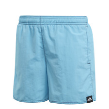 Adidas Bambino Pantaloncini Solido Spiaggia Nuoto Allenamento Ciano Moda Nuovo