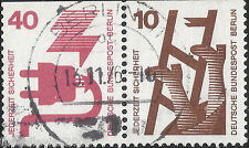 Berlin Zd-MiNr W51 407 C + 403 C ° Unfallverhütung I waager. Paar vom H-Blatt 17