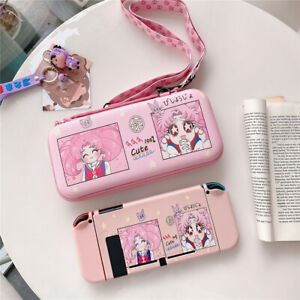 Cartoon Sailor Moon Travel Bag Carrying Case Cover for Nintendo Switch Bag Pouch