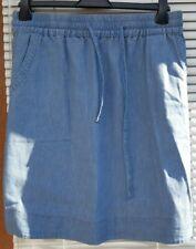 Hardly worn Next,  elasticated waistband, short denim  skirt size 22