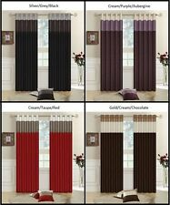 Faux Silk Contemporary Solid Ready Made Curtains & Pelmets