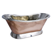 COPPER BATHTUB HIGH QUALITY - NICKEL INSIDE SHINY COPPER OUTSIDE - FREE WASTE