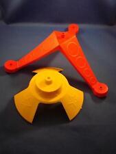 Vintage Tip-It Game Base Pieces 2 Large Plastic Pieces Ideal 1974