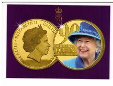 Postcard: Queen Elizabeth II 90th Birthday Coin