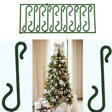 10X Small Green Christmas Ornament Tree Hook Decoration Hanger Wire EP