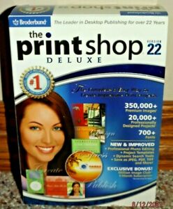 THE PRINT SHIOP DELUXE VERSION 22 - WINDOWS XP/2000 - 4 CD'S - NEW & SEALED