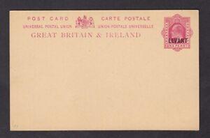 British Levant KEVII 1d stationery card mint unused