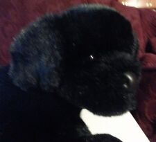 "Douglas Cuddle Toys 14"" Plush  BLACK LAB Dog, stuffed animail"