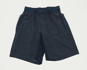 Lululemon Navy Blue Lined Training Gym Active Shorts Mens Medium