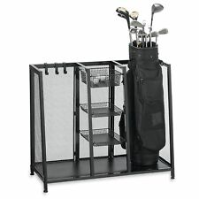 36-in Home Indoor Garage Metal Two Bag Golf Club Organizer Storage Rack Holder