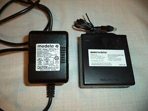 Genuine MEDELA Breast Pump AC/DC 9V Power Adapter & Portable Battery Power Pack
