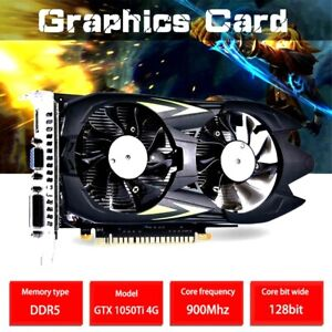 Computer Gaming Graphic Card GTX 1050TI 4G Memory Video Card  900Mhz Core Super