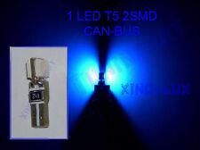 Lampadina LED T5 2 SMD 5050 BLU luci zoccolo tuttovetro per CRUSCOTTO  CANBUS!!!