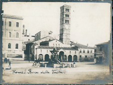 Italie, Rome, La basilique Santa-Maria in Cosmedin, ca.1910, vintage silver prin