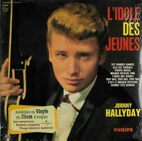 JOHNNY HALLYDAY l'idole des jeunes - VINYLE 33T 25 cm réédition neuf numéroté