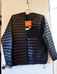 Simms Extreme Hooded Jacket, Large, Black