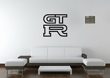 Wall Sticker Mural Decal Vinyl Decor Nissan Gtr Car Racing Speed Race Driver