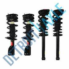 Set of 4 NEW Complete Front and Rear Ready Struts with Springs and Mounts