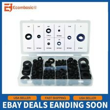 180 Piece SAE Rubber Grommet Assortment 7/8 5/8 5/16 7/16 3/8 1/4 1/2 1 Inch