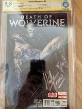 Death Of Wolverine #4 Trompe SS Signed 9.8 CBCS CGC NOT PGX Foil Cover