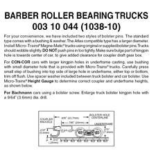 Micro-Trains 00310044 - Barber Roller Bearing Trucks With Long Extension Coup...
