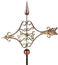Arrow Weathervane 32 in. L x 42 in. H x 5 in. W Roof Mount in Pure Copper Finish