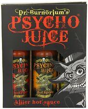 Dr Burnorium Psycho jus ensemble cadeau 70% Ghost Piment habanero Pack de 3 Hot Sauce