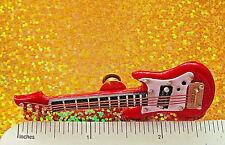 Red Electric Guitar miniature - hat pin , tie tac , lapel pin Original Box