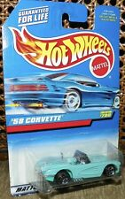 Hot Wheels Blue/White Card - '58 Corvette - Collector #780