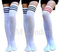 AM Landen®Ladies Super Cute Triple Stripe Over-Knee High Socks