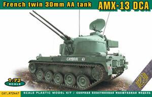 Ace 1/72 Model Kit 72447 AMX-13 DCA French twin 30mm AA tank. D