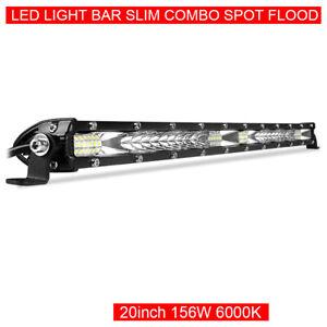 20inch LED Light Bar Spot Flood Combo Work Lamp Slim Fog SUV ATV Driving Offroad
