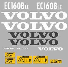 Volvo EC160BLC Bagger-Aufkleber-Aufkleber-Satz mit Sicherheit Warnung Aufklebern
