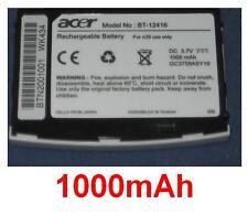 Batterie ORIGINALE 1000mAh type BT-12416 BTN2001001 GC3759ASY10 Pour Acer N20