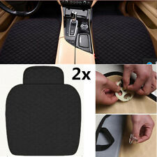 Black Linen SUV Car Seat Cover Set Driver+Passenger Chair Cushion Protector 2x
